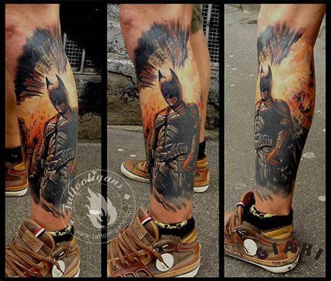 batman tattoo on thigh tatouage batman the dark knight inkage