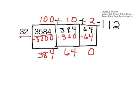 place value sections method showme expanded notation for division and place value