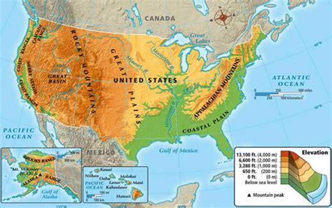 map usa geography fiziki coğrafi amerika birleşik devleti haritası