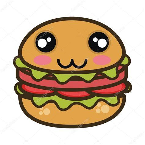 imagenes de hamburguesas kawaii kawaii dibujos animados hamburguesa comida r 225 pida vector