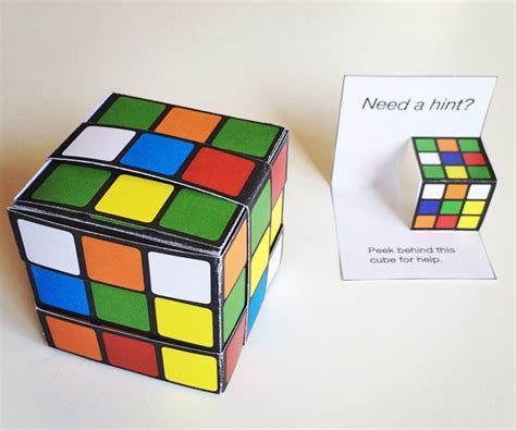 pop up cube card template printable easy paper rubik s cube diy template to