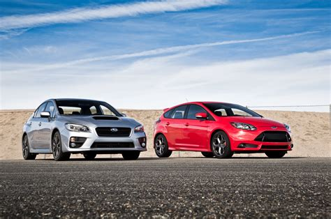 subaru ford 2014 ford focus st vs 2015 subaru wrx comparison motor
