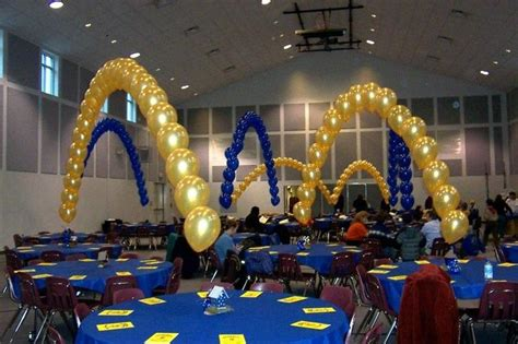 blue and gold centerpiece ideas cub scout blue and gold banquet table decoration i photograp