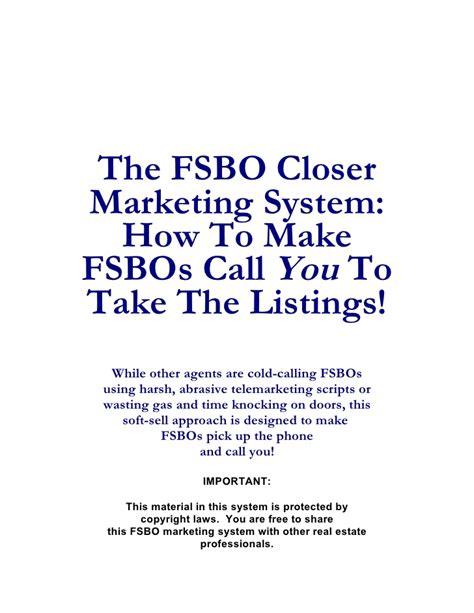 Fsbo Letter