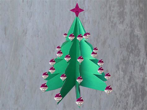 Origami Natal - 193 rvore de natal de origami