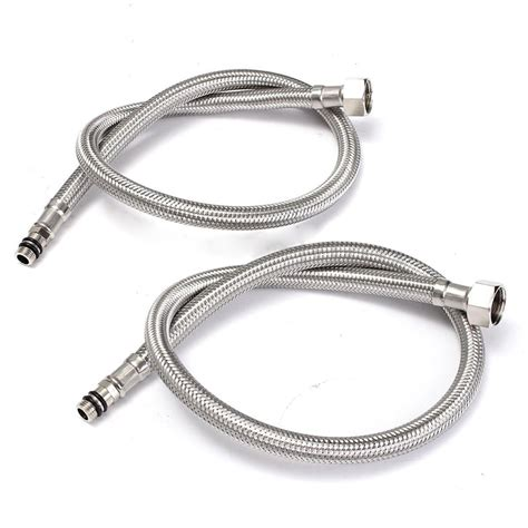 Kitchen Sink Hose 2pcs 60cm Stainless Steel Wire Braided Hose Kitchen Sink Faucet Water Tap Hoses Tosave