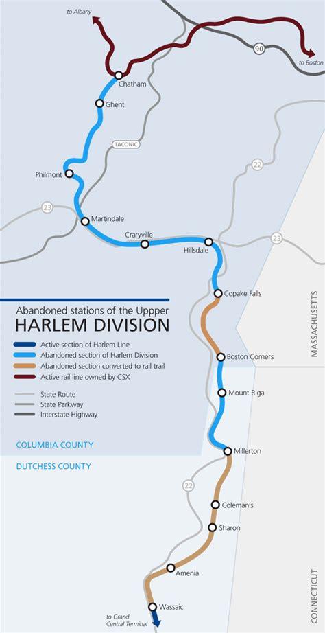 metro harlem line map penn central i ride the harlem line