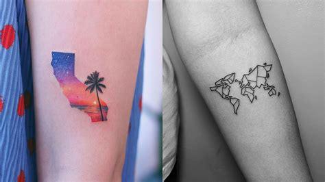 small travel tattoos adventure and travel design ideas cosmo ph