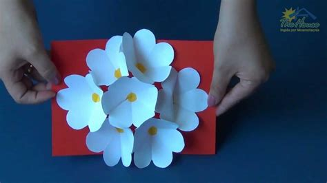 how to make a 3d flower pop up greeting card the house piracicaba 3d flower pop up card