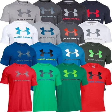 T Shirt Kaos Armour Logo armour 2018 mens charged cotton sportstyle logo top t shirt ebay