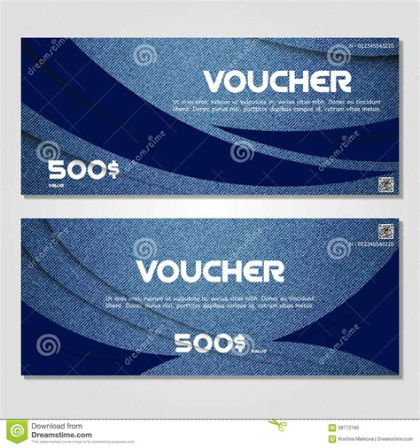 Jean Card And Gift Company - gift voucher vector illustration coupon template for company stock illustration