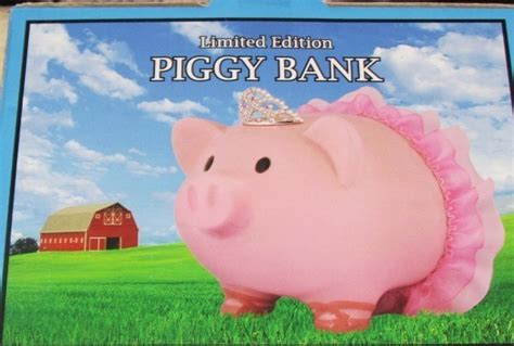 What Do Banks Look For In A Background Check Limited Edition Ballerina Princess Piggy Bank Pig Pink Tiara Tutu New Pigs
