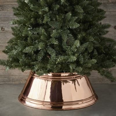 copper monogrammed tree skirt williams sonoma