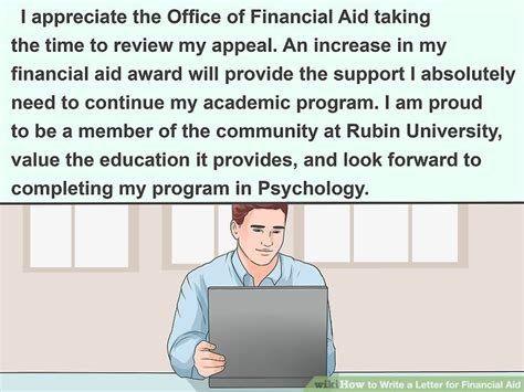 Financial Aid Appeal Letter For Excessive Hours 3 ways to write a letter for financial aid wikihow