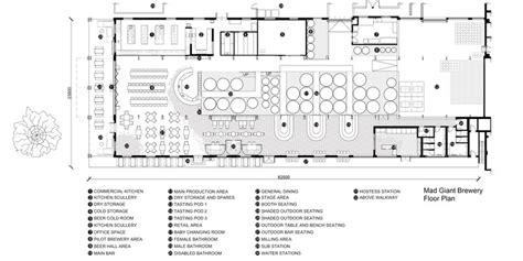 microbrewery floor plan mad giant beer interior haldane martin archdaily
