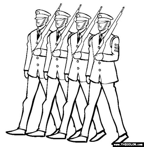 Soldier Drawing Outline by Soldiers Marching Veterans Day Coloring Page Reading Coloring Soldiers And