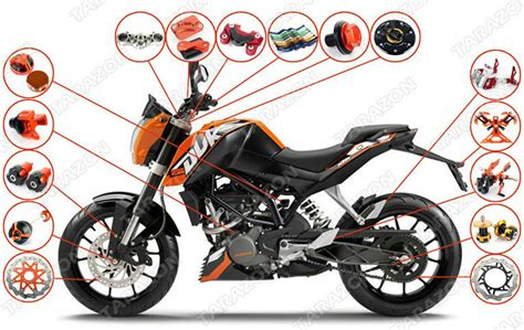 Ktm Duke Performance Parts High Performance Cnc Produced Parts Ktm Duke 125