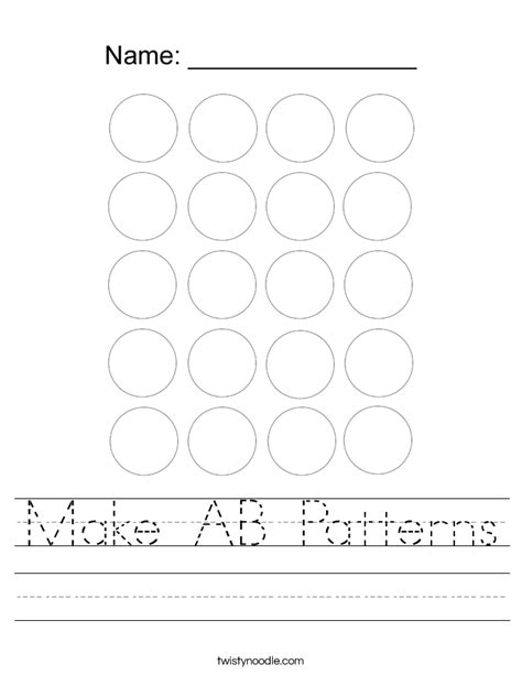 ab pattern activities smartboard make ab patterns worksheet twisty noodle