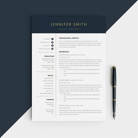 modern design cv template simple resume templates 15 exles to download use now