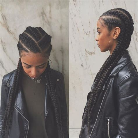 cornrow hairstyles for black women with part in the middle 85 super hot black braided hairstyles
