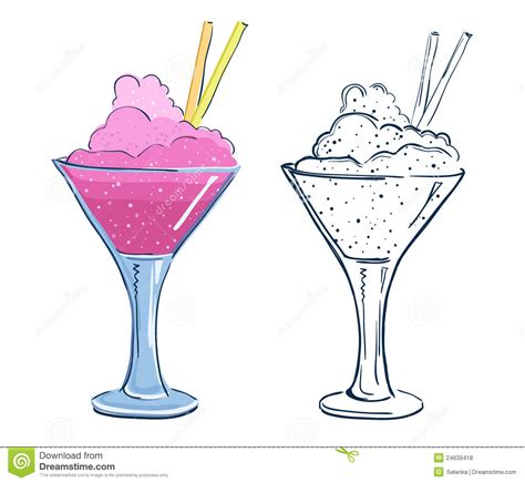 cocktail cartoon cartoon fruit cocktail royalty free stock photos image