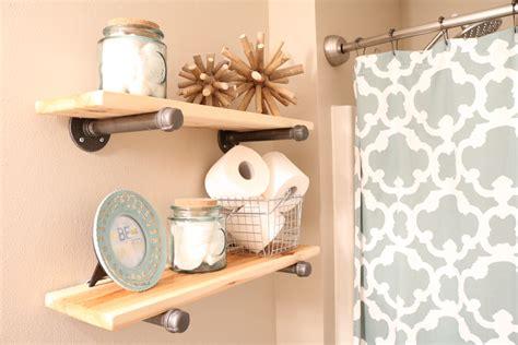 diy shelves for bathroom diy rustic industrial bathroom shelves sugar maple notes