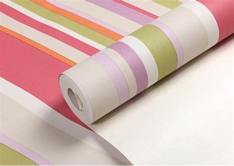 wallpaper biru vertikal anak yang modern warna warni vertikal bergaris wallpaper