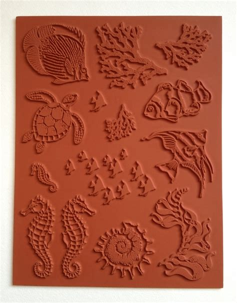 unmounted rubber st sheets designs by ryn unmounted rubber st sheet sea