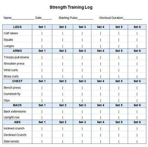 workout schedule template workout schedule template 10 free word excel pdf