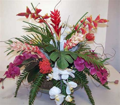 coffee table flower arrangements tropical make be leaves