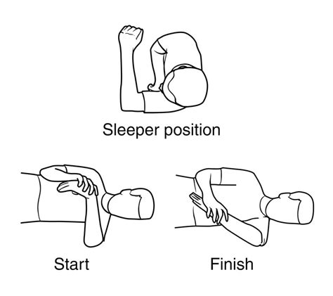 Sleeper Stretch injury exercise handouts seasons