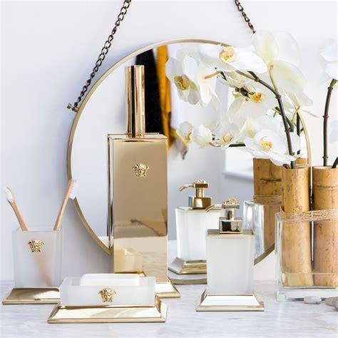 Versace Bathroom Accessories Amara Versace Bathroom Accessories Lotion Toothbrush Holder Artificial Flower Gold
