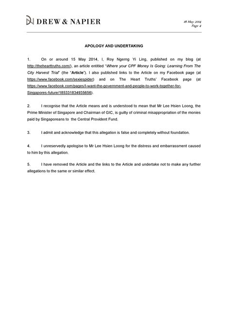 appointment letter format singapore i just been sued by the singapore prime minister