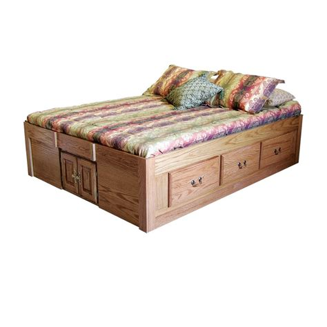 queen size pedestal bed with drawers fd 3024 contemporary oak pedestal bed with 6 drawers