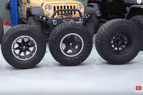 jeep tire size selecting the right size tire for your jeep