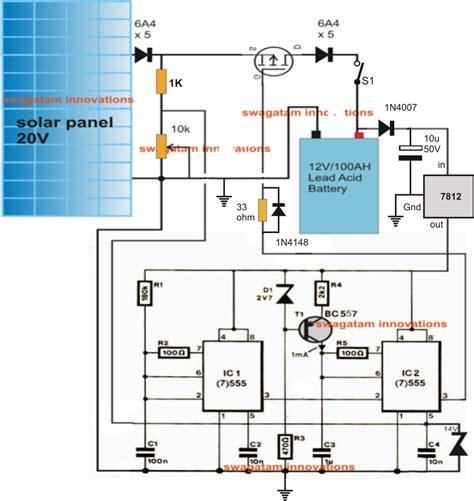Simple Solar L Circuit by Simple Solar Mppt Circuit Using Ic555 Pwm Maximum Power