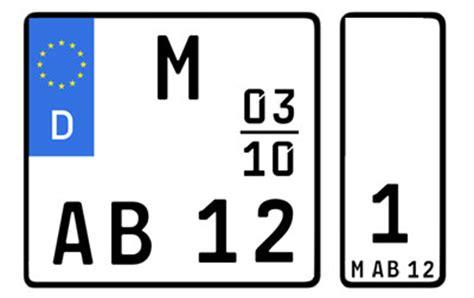 Motorrad Zulassung Deutschland by Motorrad Zulassen 4 Verschiedene Kennzeichen M 246 Glich