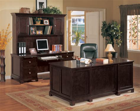 metro home office executive desk set with credenza 11317