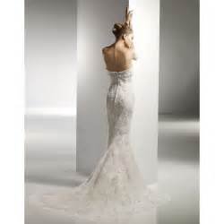 corset strapless wedding gowns mermaid style
