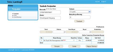 membuat barcode menggunakan php aplikasi kasir gratis ainggoblog s blog