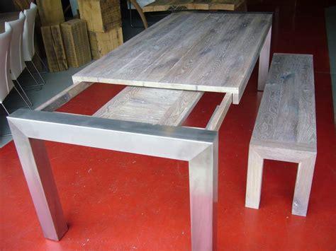 uitschuifbaar tafelblad maken tafel uitschuifbaar rvs eiken bankje te boveldt