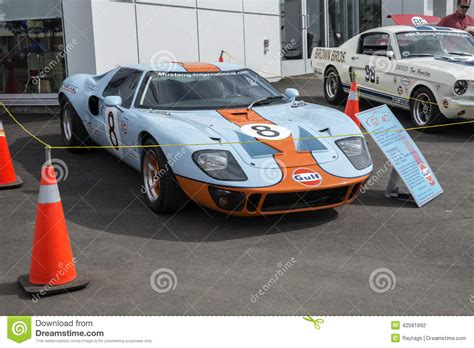 gulf racing mustang ford gt40 editorial photography image 42081992