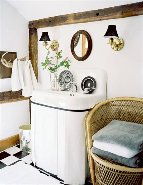 How To Hide A In A Bathroom by Hide Pipes Easy Bathroom Makeover Lonny