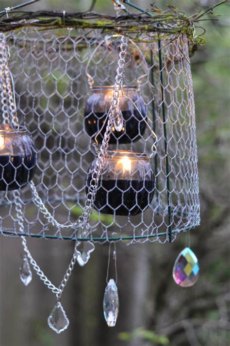 Tomato Cage Chandelier Outdoor Chandelier Diy Crafts Unleashed