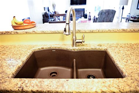 Blanco Cafe Brown Sink by Sinks Smokey Mountain Tops