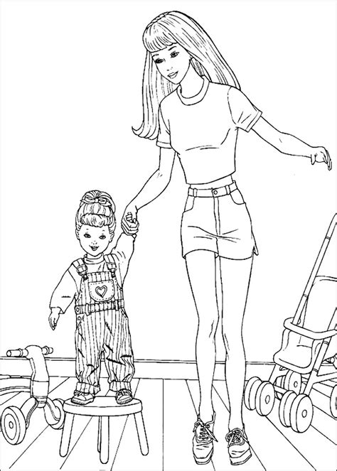 barbie coloring book games coloring pages