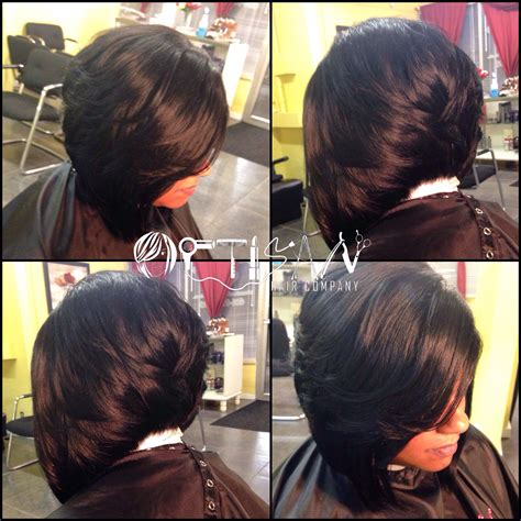 how to cut ur quick weave into layered stacked cyrls image result for sew in bob with color hair pinterest