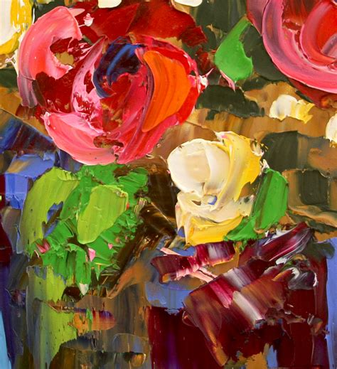 contemporary artist laurie pace painting a dozen august roses by artist