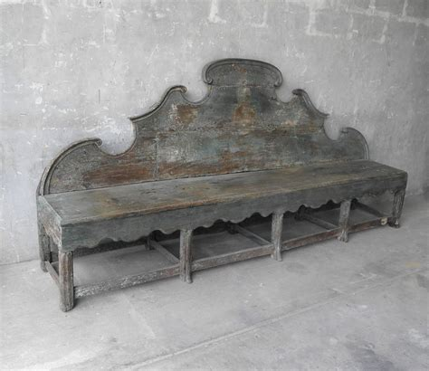 antique wooden bench antique 18th century long carved italian wooden bench with