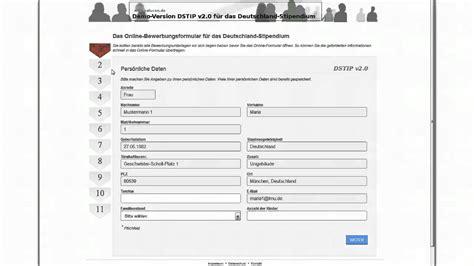 Bewerben Formular Bewerbungsformular